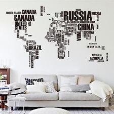 Mapa del Mundo Pegatina de Pared Vinilo decorativo Adhesivo Removible