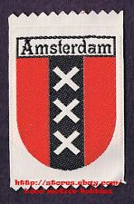 LMH PATCH Woven Badge  AMSTERDAM  Dutch Capital NETHERLANDS  Flag XXX  Coat Arms