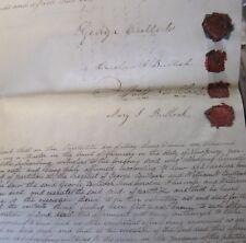 1853 NEW HANOVER BURLINGTON NEW JERSEY HUGE MANUSCRIPT BULLOCK & WRIGHT FAMILIES
