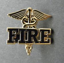 FIRE EMT DEPT PARAMEDIC CADUCEUS CUTOUT LAPEL PIN BADGE 1 INCH