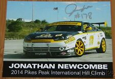 2014 Jonathan Newcombe signed Hyundai Tiburon Time Attack PPIHC postcard
