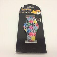 Pokemon LED Wrist Watch Rubber by Accutime Kids NEW