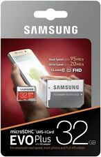 32GB Samsung Micro SD EVO Plus Memory Card For Mobile Phone Class 10 Speed 95mb
