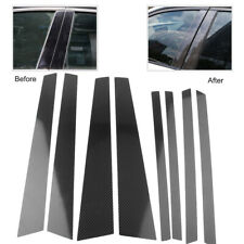 1 Set Carbon Fiber Car Window B Pillar Trim Cover For BMW X5 X5M E70 2007-2013