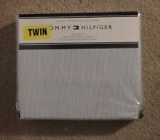 Tommy Hilfiger Blue & White Pinstripe 3 Pc Twin Sheet Set NWT