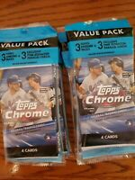 Topps 2020 Chrome Baseball Cello Value Pack Sealed - Lot Of 4 🔥