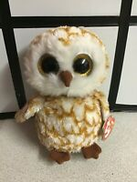"""TY BEANIE BOO'S SWOOPS THE OWL PLUSH SOFT TOY 15cm 6"""" STILL TAGGED"""