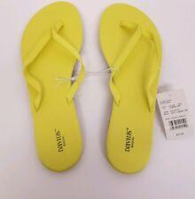 David's Bridal Thong Flip Flop Sandal Size L 9/10 ~Zoey Lemon lime NEW W/ TAG