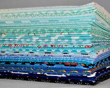 Designer Fabric Scrap Bag Blue, 2 yards total, 100% cotton fabric