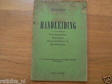 FORD 1932-1948 HANDLEIDING,KOPPELING,VERSNELLING,DUTCH