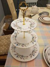 Royal Albert bone china Brigadoon thistles three tier cake stand