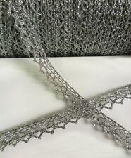 9MM Metallic Silver Fringe Scallop Edge Ribbon Trims Tape DIY- 5 Yards (T381)