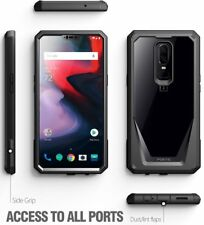 For OnePlus 6 Scratch Resistant Back Case,Shockproof Hard Shell Cover Black