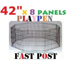 """42"""" x 8 pcs Panel Playpen play pen Pet Dog Puppy Exercise Cage fence"""