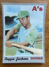 1970 Topps #140 Reggie Jackson Oakland A's 2nd year card of Mr. October Sweet