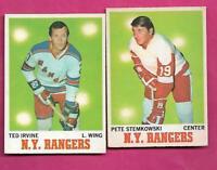 1970-71 OPC RANGERS IRVINE + STEMKOWSKI   CARD (INV# C4422)