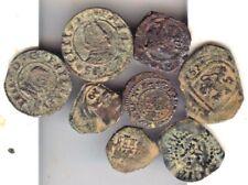 Cincin19,LOTES, Muy Interesante Lote de 8 Monedas de los Austrias