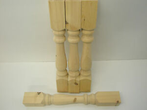 "Set of 4 Pine Refectory Farmhouse 4"" Table Legs, WT002"
