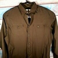 Banana Republic Dark Green 17-17 1/2 XL Long Sleeve 2 Pockets Shirt USA Seller