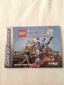 Gameboy advance Lego Knights Kingdom Instruction Booklet