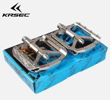 KRSEC Aluminium MTB Road sealed Bearing Pedals Platform Bicycle Pedal Gray