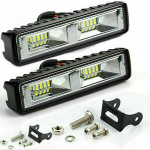 2x 48W LED Work Light Bar Flood Spot Lights Driving Lamp Offroad Car SUV 12V Kit