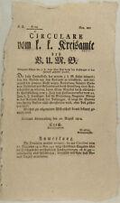 BANK Handel Kaufmann GELD Gesetz Original Text 1814 ÖSTERREICH Post Kornneuburg