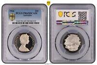1966 20c Australian Twenty Cent PCGS PR65DCAM