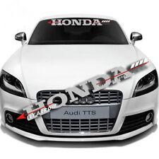 Car Front Rear Windshield Banner Reflective Decal Sticker For Honda Race Custom