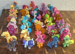 MLP MY LITTLE LOT OF 40 PONYVILLE MINI BLIND FRIENDS GLITTER TRANSPARENT HTF