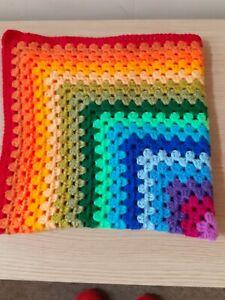 New Crochet Granny Rainbow Baby Blanket