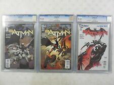 3x CGC 9.8 MINT~ BATMAN # 1 2 3 Set ~ DC New 52 2011~1st PRINT ~ SNYDER Capullo