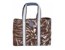 NEW Tory Burch $250 Printed Canvas LARGE Tabora Combo E/W Purse Handbag Tote