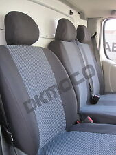 Renault Trafic Vauxhall 2007  Vivaro  tailored seat covers   1+2   grey2