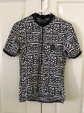 Wild Ride Womens Black White Flowers 3/4 Zip Cycling Jersey Size Small
