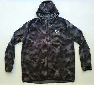 Adidas Full Zip 'Own The Run' Hooded Jacket  Men's  DZ2030 Size XL