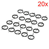 20X  Diy 25Mm Black Keyring Keychain Split Ring Chain Key Rings  Jewel _ti