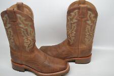 """Double H Men DH3588 Alamo ARENA Oak 11"""" Wide Square Toe Western Boots Tan 10.5 D"""
