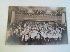 Old RPPC Mixed Group Old Theatre or Hall With Balcony  HULL PHOTOGRAPHER §A955