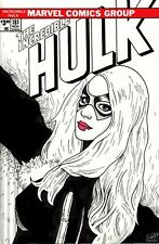 The Incredible Hulk #181 Blank Variant with painted Black Cat sketch