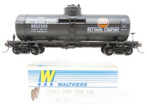 HO Scale Walthers 932-5011 GRCX Gulf Refining Co. 36' Single Dome Tank Car #5122