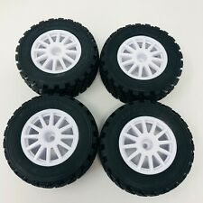 Traxxas 1/10 Rally VXL Tires/Wheels x4 Assembled Glued - White 7473 Brand New
