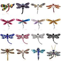 Fashion Crystal Dragonfly Animal Brooch Pin Women Charm Costume Jewelry Gift New