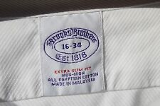Brooks Brothers Gentleman's 16/34 Extra Slim Fit White Egyptian Cotton Shirt