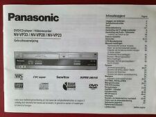 PANASONIC DVD/CD-player/Videorecorder NV-VP33, VP28, VP23 - Gebruiksaanwijzing