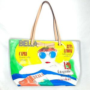 KATE SPADE Bella Rita Limoni Capri Italia Tote Bag Magazine Bon Shopper RARE!!!