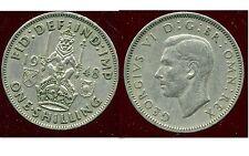 ROYAUME UNI - GREAT BRITAIN one shilling 1948 ( rev SCOTTISH ) ( ca )