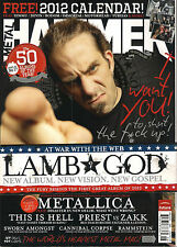 METAL HAMMER UK 226 January 2012 LAMB of GOD Rammstein Gene Simmons + CALENDAR