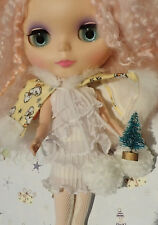 * WOW! MINI FROSTED CHRISTMAS TREE  * BLYTHE * PULLIP * DOLLHOUSE * NEW! *