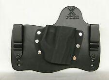 FoxX Leather & Kydex IWB Hybrid Holster Glock 43 w/Streamlight TLR6 Black Right